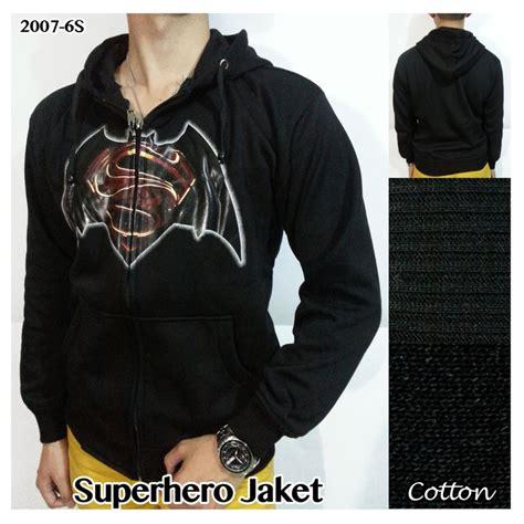 Gamis Hoodie Pria jual baju jaket hoodie pria katun hitam superman batman
