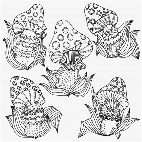 Trippy Coloring Pages Mushrooms by Trippy Pages Coloring Pages