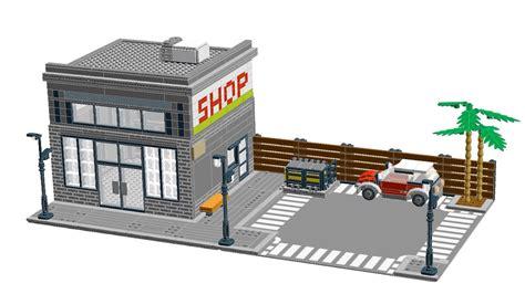 lego modular tutorial how to make custom lego modular building street shop
