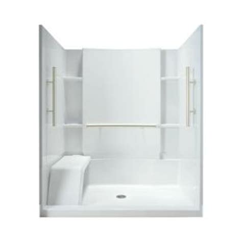 Sterling Walk In Shower by Sterling Accord 36 In X 60 In X 74 1 2 In Shower Stall In White 72290103 N 0 The Home Depot