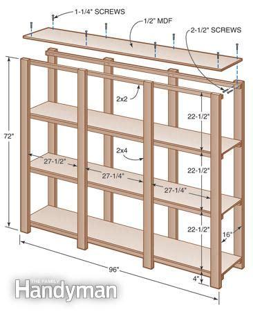how to build 2x4 garage shelves plans pdf plans