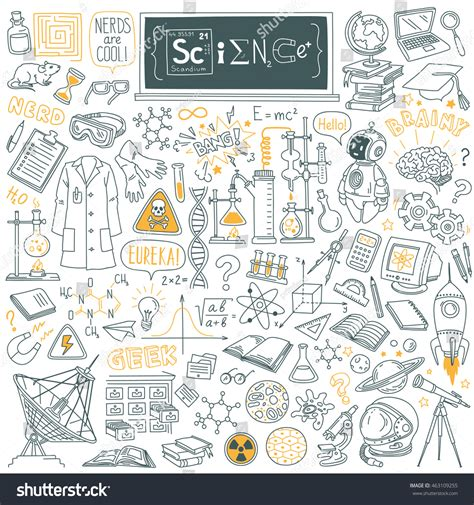 doodle maths for schools login science stuff doodle set biology mathematics stock vector