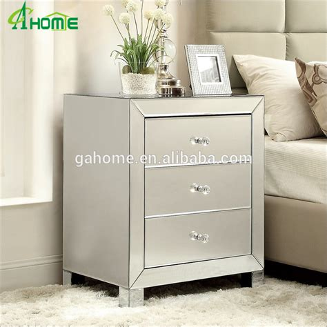 mirrored bedside table excellent furniture mirrored