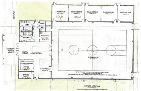 multi purpose hall floor plan church gymnasium plans joy studio design gallery best