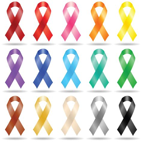 cancer ribbons colors brain cancer ribbon clip cliparts co