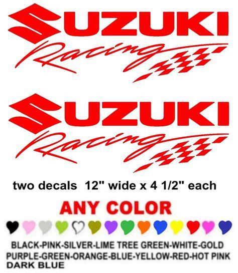 Suzuki Racing Decals Suzuki Racing Sticker Decals Race