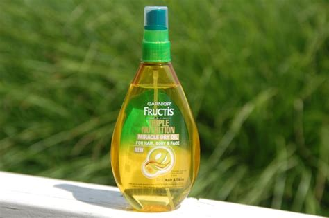 garnier fructis triple nutrition miracle dry oil for hair body garnier fructis triple nutrition miracle dry oil review