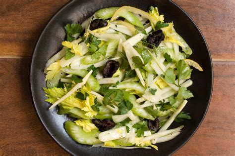 celery salad fennel parsley and celery salad recipe chowhound