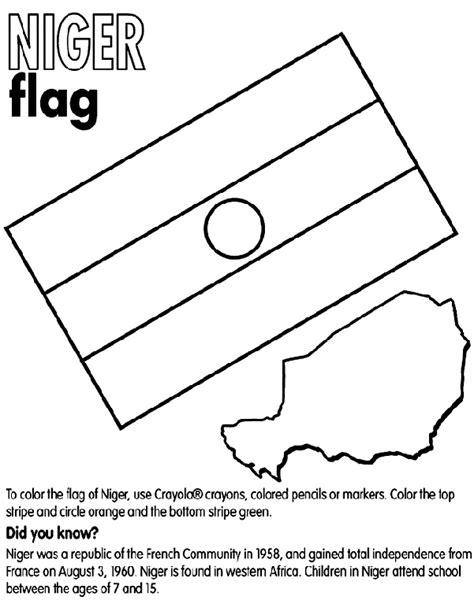 flag coloring pages crayola niger coloring page crayola com