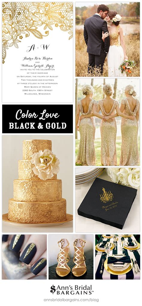 we love black and gold wedding colors