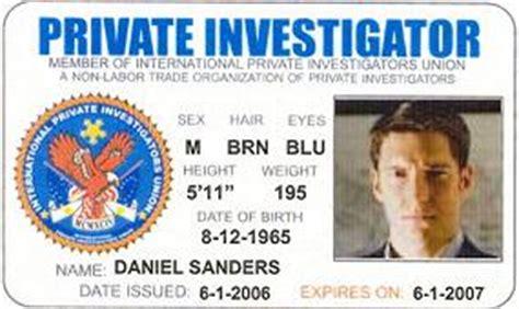 investigator id card template investigators union investigator