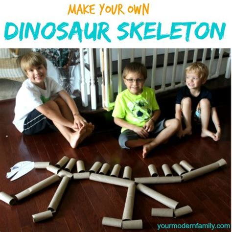 Make Your Own Paper Skeleton - 25 best ideas about dinosaur crafts on