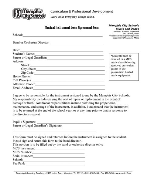 printable sle loan agreement form form attorney legal