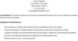 resume sles sle wound care specialist resume