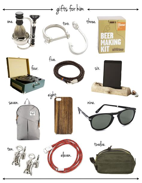 gifts for him on gift guide for him veryallegra