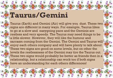 taurus astrological compatibility