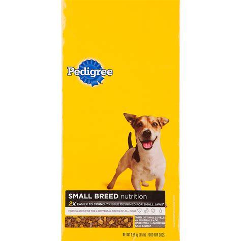 pedigree breed pedigree small breed food petco