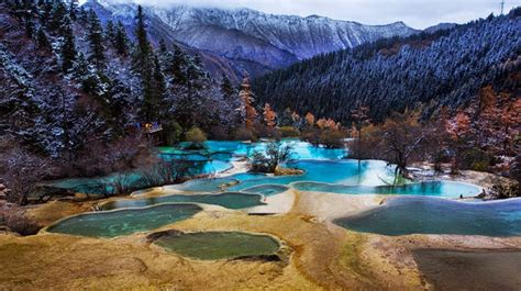 Huanglong – Unique Yellow Dragon Pools in China - Snow ... Year Round Weather