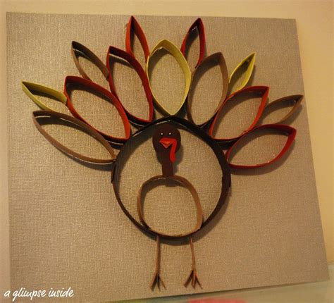 How To Make A Thanksgiving Turkey Out Of Construction Paper - tp rolls turkey kid crafts toilet paper