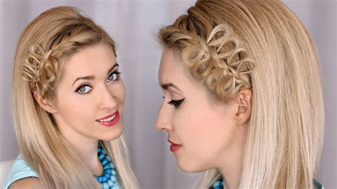 braided hairstyles by lilith moon bow braid headband tutorial party hairstyle for medium