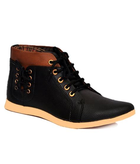 shoe island black canvas casual shoes price in india buy