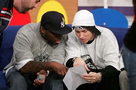 50 cent and eminem photos photos bet s 106 amp park