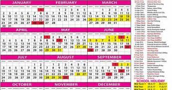 Kalendar 2018 Sarawak Kalendar Cuti Umum Malaysia 2017 Cuti Persekolahan 2017