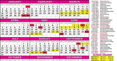 printable calendar 2018 sarawak kalender 2018 malaysia printable 2018 calendar free