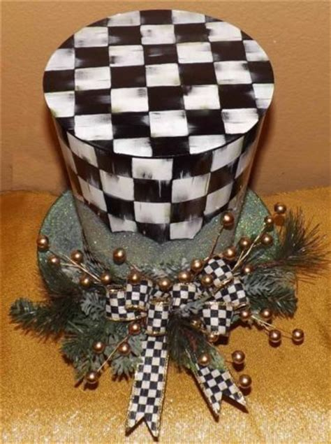 mackenzie childs snowman mackenzie childs courtly check ribbon on snowman hat tree topper lot for the mad