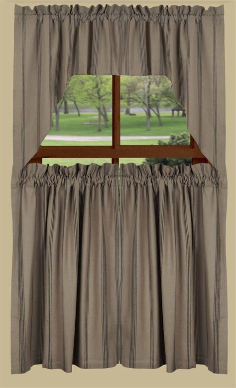 Black Tier Curtains New Port Stripe Tier Curtains With Black Stripe Bestwindowtreatments