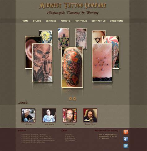 midwest tattoo indianapolis website design development portfolio