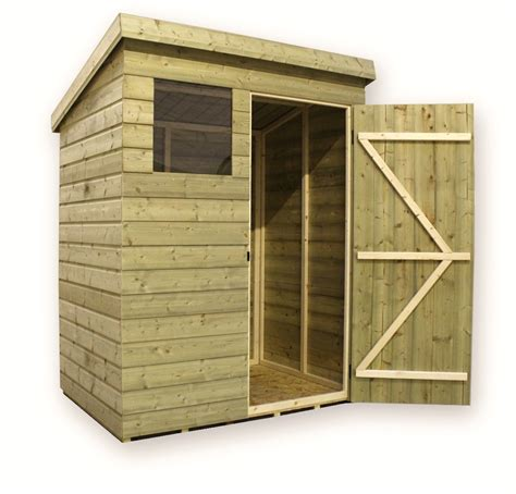 Pent Shed 6 X 3 by 6 X 3 Pressure Treated Tongue And Groove Pent Shed With 1