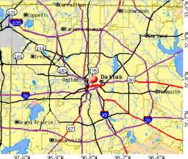 dallas tx profile population maps real estate