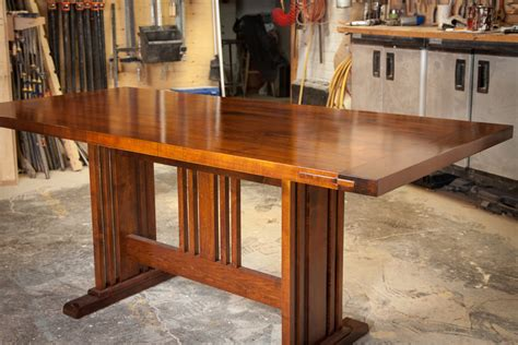 Arts And Crafts Dining Room Table Arts And Craft Dining Table By Parsons Lumberjocks Woodworking Community