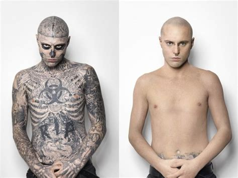 before and after tattoos bare body shop rick genest rick genest photo 31880618 fanpop