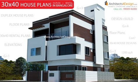 home design 40 40 30x40 house plans in bangalore for g 1 g 2 g 3 g 4 floors