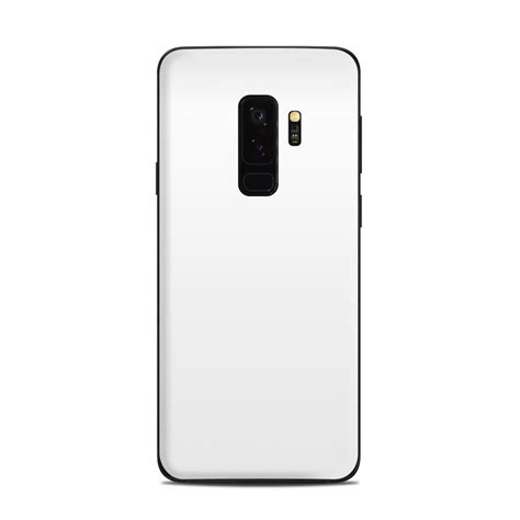 samsung galaxy s9 plus skin solid state white by solid colors decalgirl