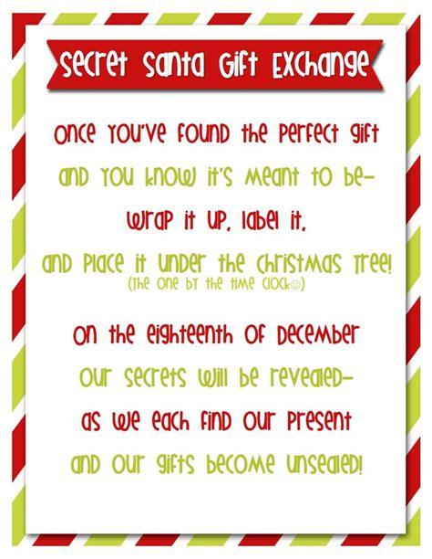 secret poems secret santa forms crafts