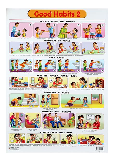 Home Decor Products In India by Buy Dreamland Good Habits Chart 2 Online In India