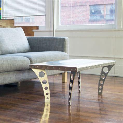 Aluminum Coffee Table Legs Jetset Coffee Table Aluminum Ramona Metal Touch Of Modern
