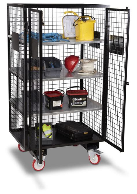 Alarm Mobil Leopard mobile security cage with forklift pockets security