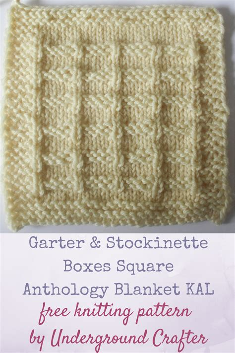 what is garter stitch in knitting terms garter and stockinette boxes square allfreeknitting