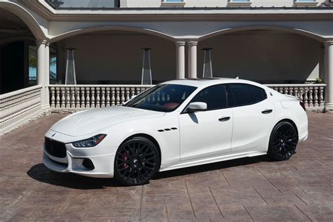 maserati ghibli black rims wald maserati ghibli on forgiato wheels