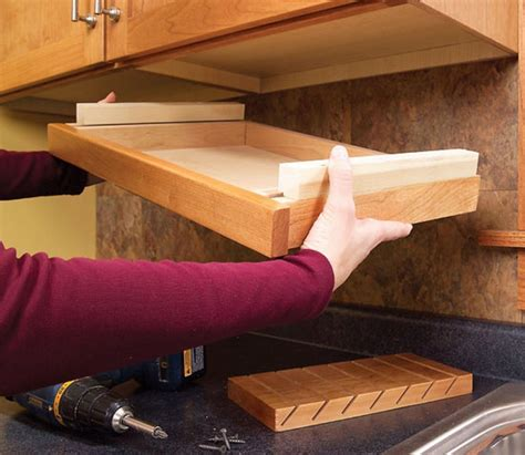 diy under cabinet storage clever ideas for storing your kitchen knives the owner builder network