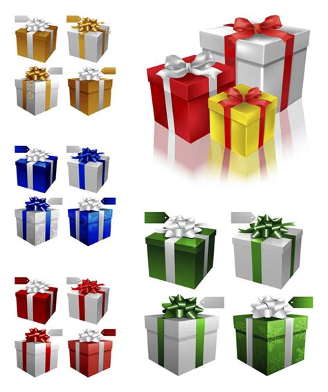 3d christmas gift boxes vector vector graphics blog