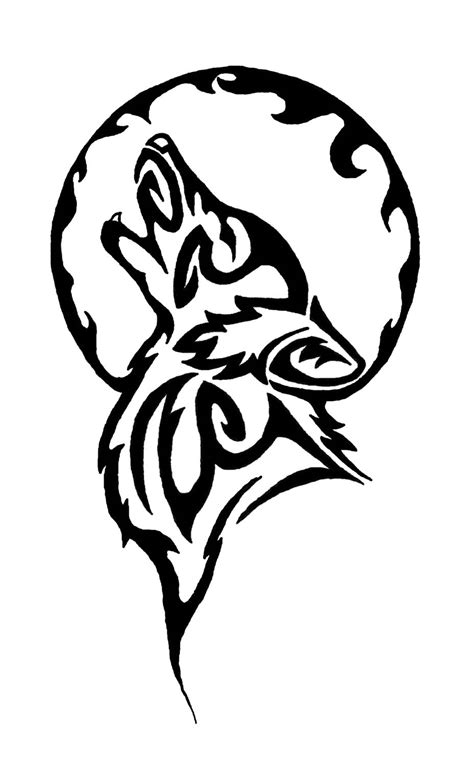 howling wolf tribal tattoo tribal wolf designs