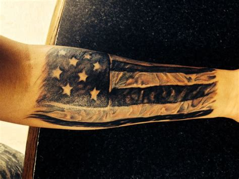 american flag forearm tattoo my american flag fn scar you badass weapons and