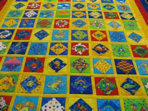 i child s quilt machine quilted colorful children s