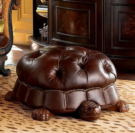 hassock ottoman footstool i must have it the 1 000 leather turtle foot stool