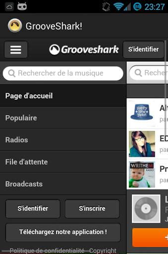 grooveshark apk 1 2 5 free audio app for android apk4fun